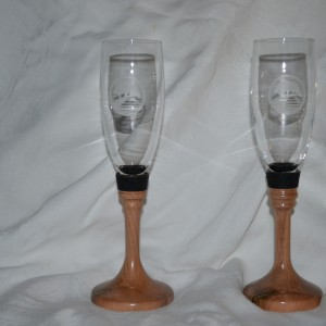 Long Stem Champagne Glasses(Pair) – Pear Tree Wood