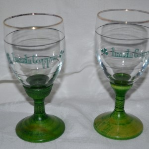 Irish Coffee Glasses – Blue Lettering (Pair)